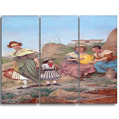 Designart Richard Dadd, Negation Canvas Art Print, 3 Panels, (PT4890-3P)