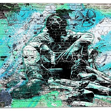Design Art – Art de rue, Green Hazardous Behavior, toile