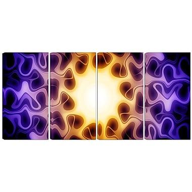 Designart – Imprimé moderne sur toile, lumière brillante, 4 panneaux (PT3042-271)
