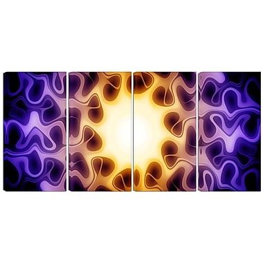 Designart Light Shine Through 4-Panel Modern Canvas Art Print, (PT3042-271)