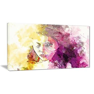 Designart Seductive Stare Sensual Canvas Art Print, (PT2904-32-16)