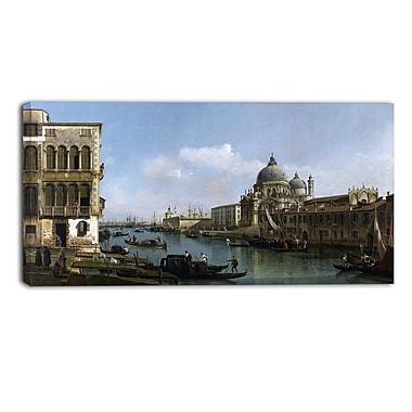 Designart Bernardo Bellotto, View of the Grand Canal Canvas Art Print, (PT4173-32-16)