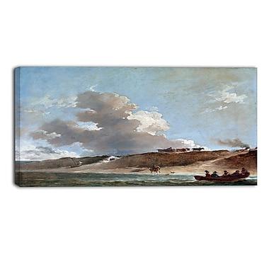 Designart – Toile imprimée de Peter Francis Bourgeois « Coastal Landscape with Boat » (PT4841-32-16)
