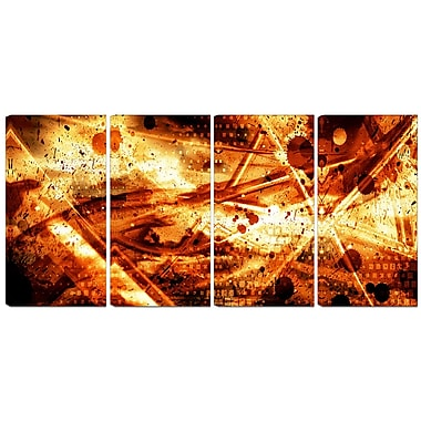 Designart Signs of Life 4-Panel Abstract Canvas Art Print, (PT3097-271)