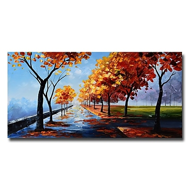 Designart A Path In The Fall Landscape Canvas Art Print, 40
