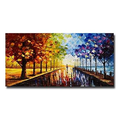 Designart A Walk Through Colour Landscape Trees Canvas Art Print, 40