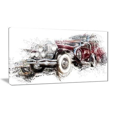 Designart – Art imprimé sur toile, voiture classique américaine (PT2655-32-16)
