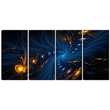 Designart Illumination 4-Panel Abstract Canvas Art Print, (PT3000-271)