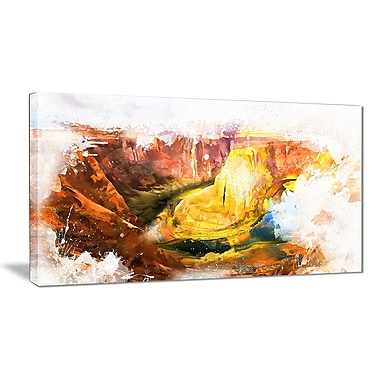 Designart Grand Canyon Americana Canvas Art, (PT2813-32-16)