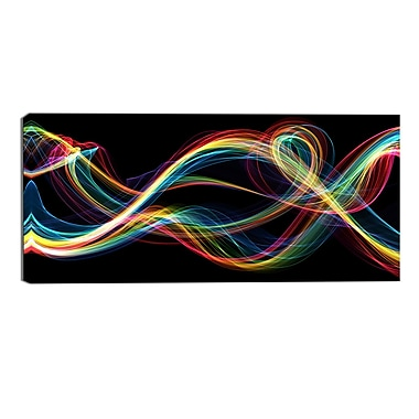 Designart Coloured Smoke Abstract Canvas Art Print, (PT3089-32-16)