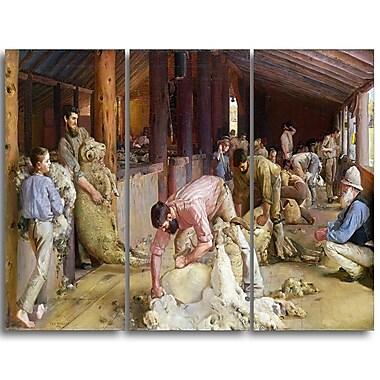 Designart Tom Roberts, Shearing the Rams Canvas Art Print, (PT4973-3P)
