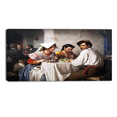 Designart Carl Bloch, In a Roman Osteria Canvas Art Print, (PT4207-40-20)