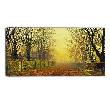 Designart John Atkinson Grimshaw, Evening Glow Canvas Art Print, (PT4630-32-16)