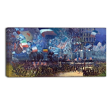Designart George Luks, Armistice Night Landscape Canvas Art Print, (PT4419-32-16)