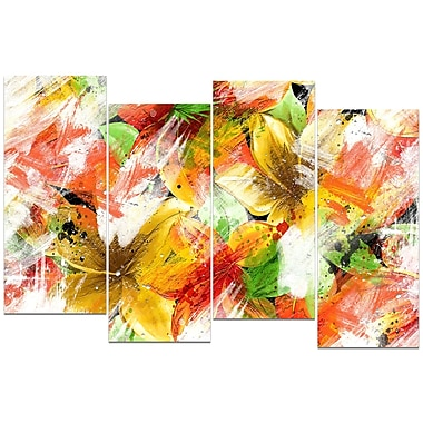 Designart MultiColour Flower Art Canvas Art Print, (PT3419-271)