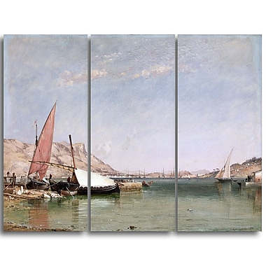 Designart Edward William, Toulon Canvas Art Print, (PT4346-3P)