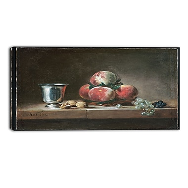 Designart Jean Simeon Chardin, French Still Life Canvas Art Print, 3 Panels, (PT4584-40-20)