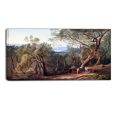Design Art – Edward Lear, Corfu from Santa Decca Landscape, impression sur toile