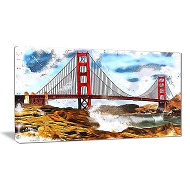 Designart Sanfrancisco Canvas Art, (PT2819-32-16)