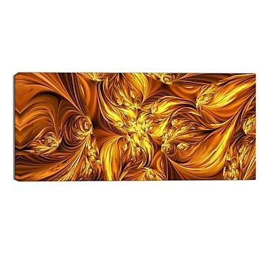 Designart – Impression sur toile, échange d'or fondu, art abstrait (PT3093-32-16)