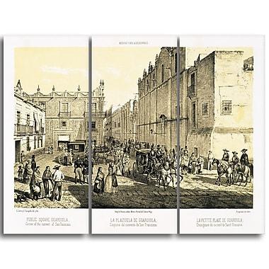 Designart – Tableau paysage imprimé sur toile, Place Guardiola de Castro Casimiro (PT4213-3P)