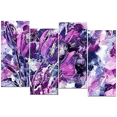 Designart – Impression sur toile, fleurs violettes