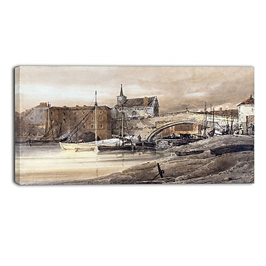 Designart Thomas Girtin, Ouse Bridge Canvas Art Print, (PT4967-32-16)