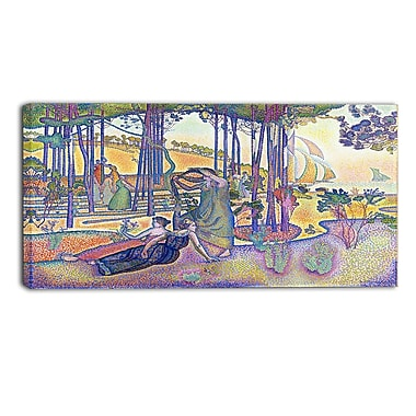 Designart – Henri-Edmond Cross, L'Air du soir sur toile panoramique (PT4497-32-16)