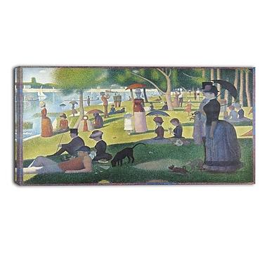 Designart – Georges Seurat, Un dimanche après-midi à l'Île de la Grande Jatte, paysage imprimé sur toile murale (PT4427-40-20)