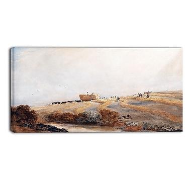 Designart – Tableau de paysage imprimé sur toile, La Fenaison de David Cox (PT4284-32-16)