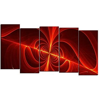 Designart – Art moderne imprimé sur toile, laser rouge, 5 panneaux (PT3036-1084)