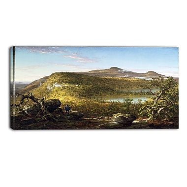 Designart Thomas Cole, A View of the Two Lakes and House Canvas Art Print, (PT4938-32-16)