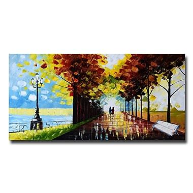 Designart – Paysage d'arbres imprimé sur toile, suis ton chemin, 40 x 20 po (PT3505-40-20)
