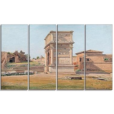 Designart – Imprimé de paysage sur toile, Constantin Hansen, The Arch of Titus in Rome