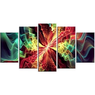 Designart Hypnotize Abstract Multi-Colour Canvas Art Print, 5 Panels, (PT3029-373)