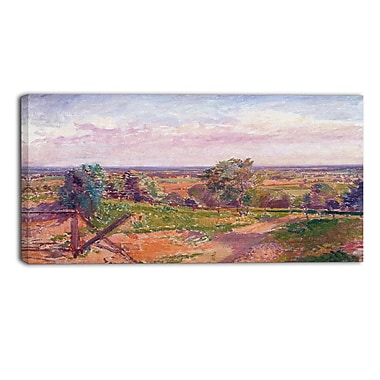 Designart Spencer Frederick, A Landscape in Yorkshire Canvas Art Print, (PT4926-32-16)
