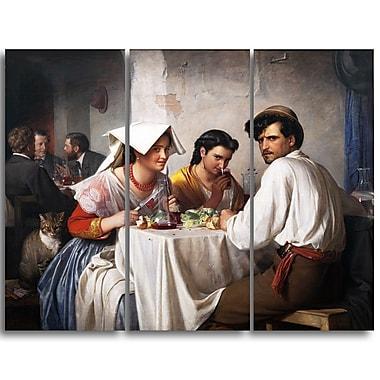 Designart – Imprimé sur toile, Dans une auberge romaine de Carl Bloch (PT4207-3P)