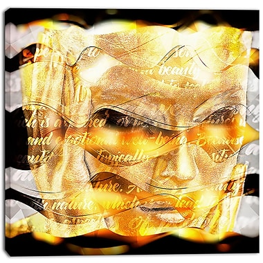 Designart Golden Goddess Street Art Canvas Artwork, (PT3641-30-30)