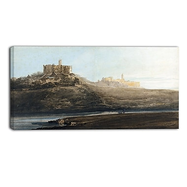 Designart Thomas Girtin, Warkworth Castle Canvas Art Print, (PT4959-40-20)