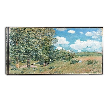 Designart Alfred Sisley, Road from Versailles to Saint-Germain Master Piece Landscape Artwork, (PT4133-32-16)