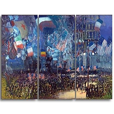 Designart George Luks, Armistice Night Landscape Canvas Art Print, (PT4419-3P)