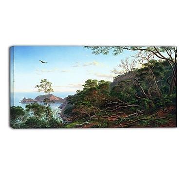 Designart Eugene von Guerard, Tea Trees near Cape Schanck Landscape Canvas Art Print, (PT4369-40-20)