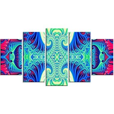 Designart Peaceful Mantra 5-Panel Modern Canvas Art Print, (PT3073-373)
