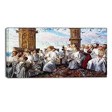 Designart – Toile imprimée de William Holman « May Morning on Magdalen College Tower » (PT5012-32-16)