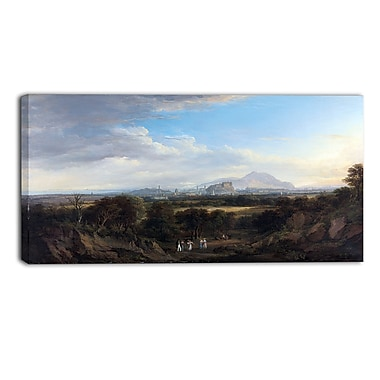 Designart Alexander Nasmyth, A View of Edinburgh 3-Panel Canvas Art Print, (PT4123-40-20)