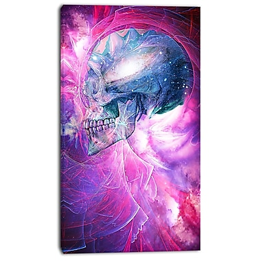 Designart Spatial Skull Street Art Canvas Artwork, (PT3604-16-32)