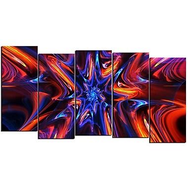Designart – Art moderne imprimé sur toile, transe étoilée, 5 panneaux (PT3033-1084)
