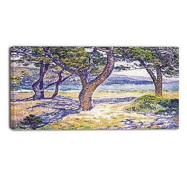 Designart Theo Van Rysselberghe, The Mediterranean Canvas Art Print, (PT4932-32-16)