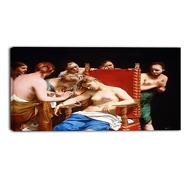 Designart Guido Cagnacci, The Death of Cleopatra Canvas Art Print, (PT4455-32-16)