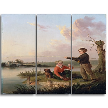 Designart Edmund Bristow, The Young Anglers Canvas Art Print, 3 Panels, (PT4317-3P)